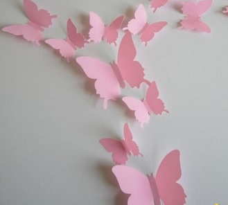 Бабочки-интерьерные наклейки (набор 12 шт)