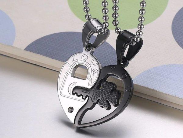 арные кулоны Ключ к сердцу из медицинской стали