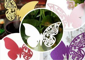 Рассадочные карточки - Декор для бокала «Бабочка»