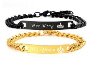 Браслеты для двоих Black King - Golden Queen