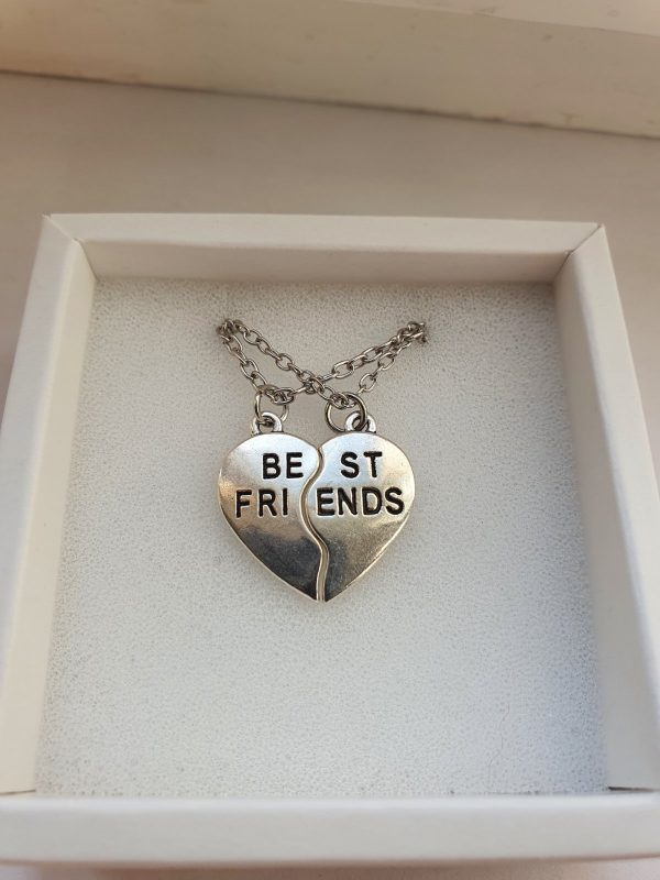 Кулоны для друзей BEST FRIENDS Silver