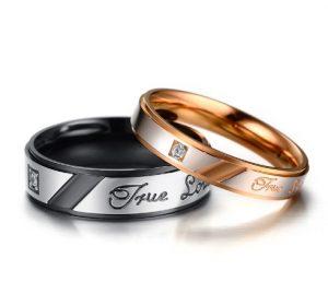 Кольца для влюбленных Black Rose