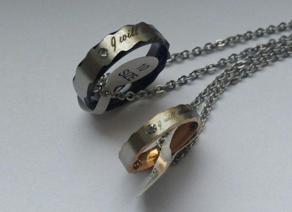 Кулоны кольца для пары Я всегда буду с тобой