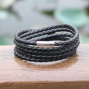 Браслет- змейка черный