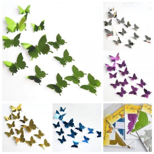 Бабочки из фольги набор 12 шт