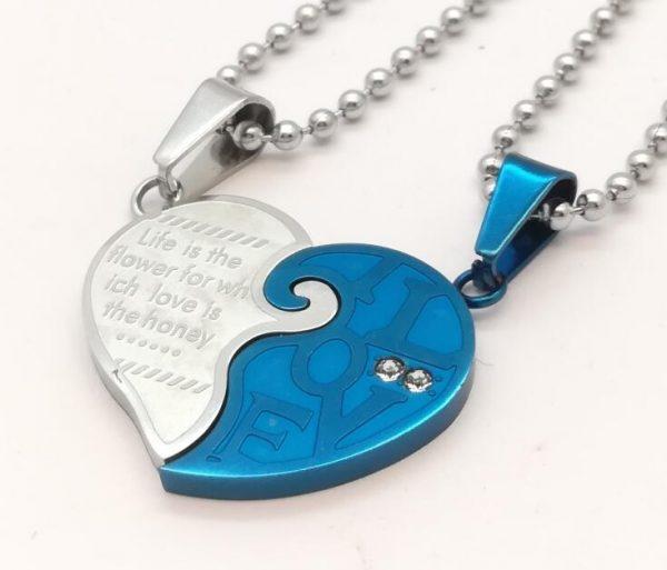 Кулоны парные LOVE Blue