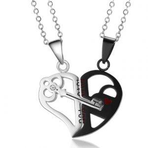 Для влюбленных кулоны парные Ключ в сердце love you