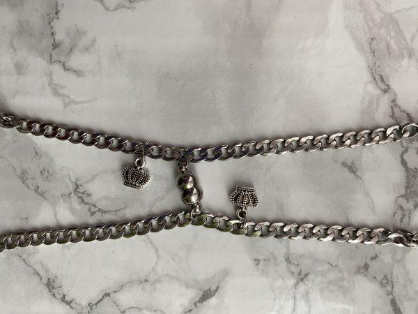 Парные браслеты с магнитами и подвесками Коронками