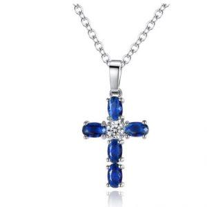 Кулон женский Крестик с камнями