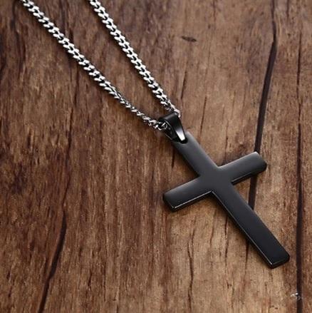 Крест черный мужской