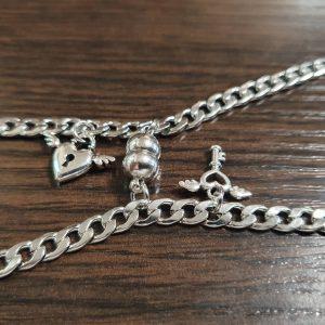 Парные браслеты с магнитом Ключ + Замок