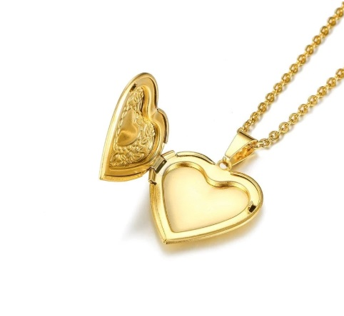 Медальон под фото Сердце Ажур