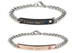 Парные браслеты для влюбленных I Love you