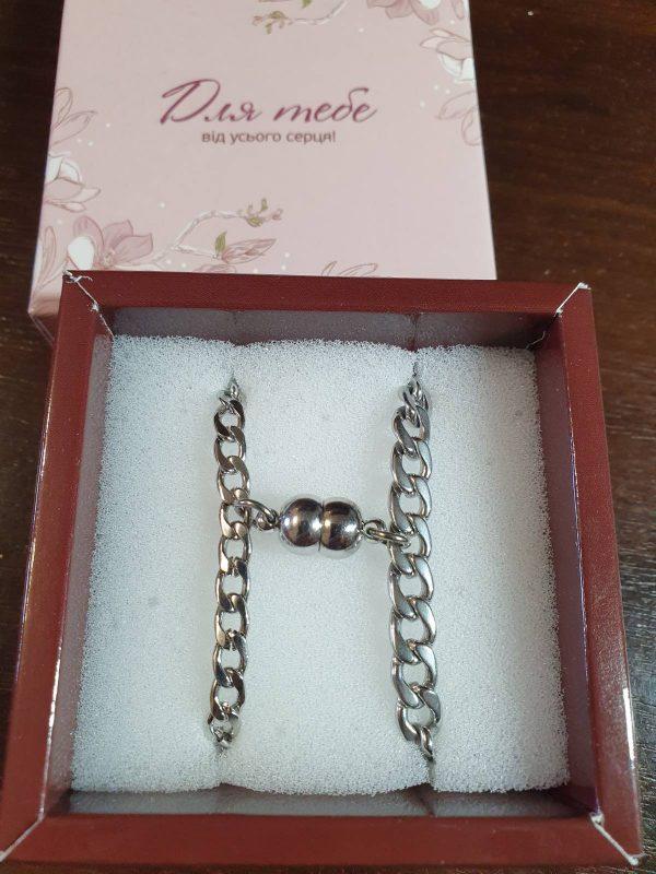Парные браслеты Неразлучники с магнитами 4,3 и 6 мм