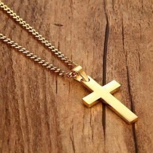 Крест золотой мужской