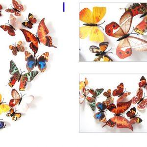 Интерьерные наклейки бабочки зеленые