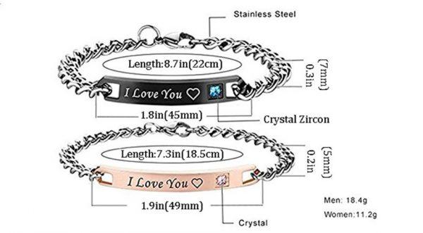 Парные браслеты I Love you
