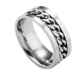 Кольцо спинер silvery