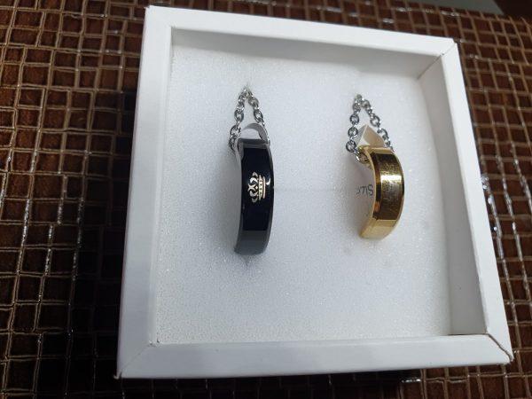 Кулоны кольца Король Королева Golden black