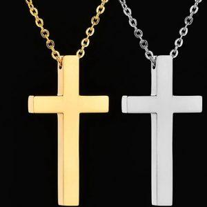 Крестики для пары серебристый и золотой