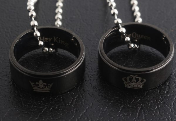 Кулоны кольца Король Королева Two black