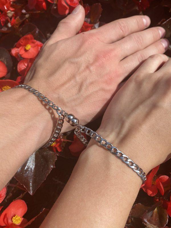 Парные браслеты с магнитом Неразлучники