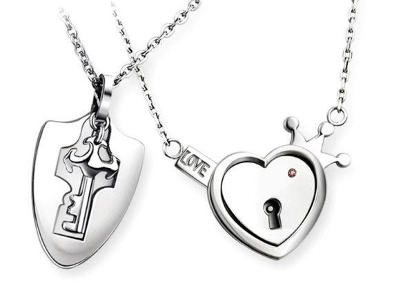 Парные кулоны Ключ к сердцу