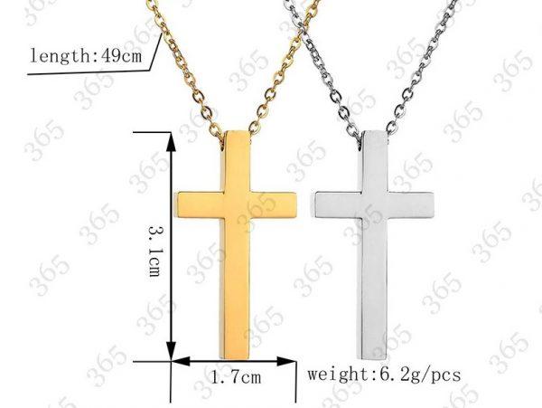 Крест серебристый из нержавеющей стали