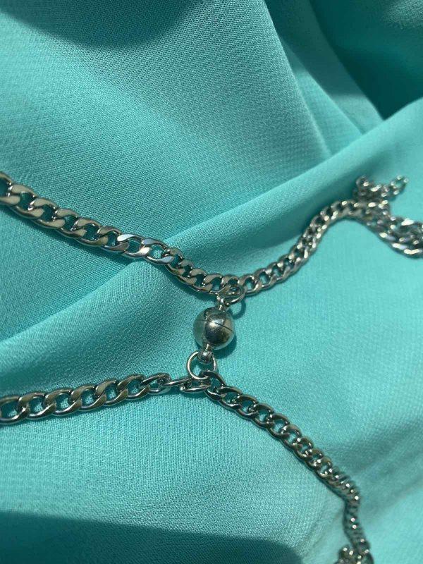 Парные браслеты с магнитами 4,3 мм