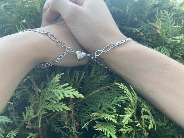 Парные браслеты с магнитом Бесконечная любовь