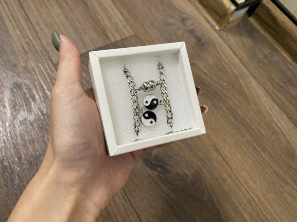 Парные браслеты с магнитами Ин Янь