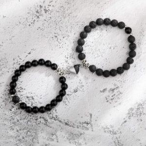 Парные браслеты с магнитами Black